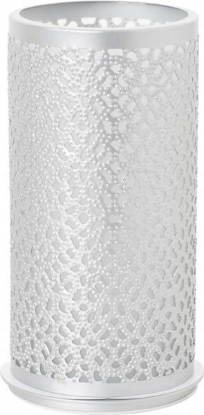 Kerzenhalter Bliss silber Metall Ø 7,5 x 14 cm