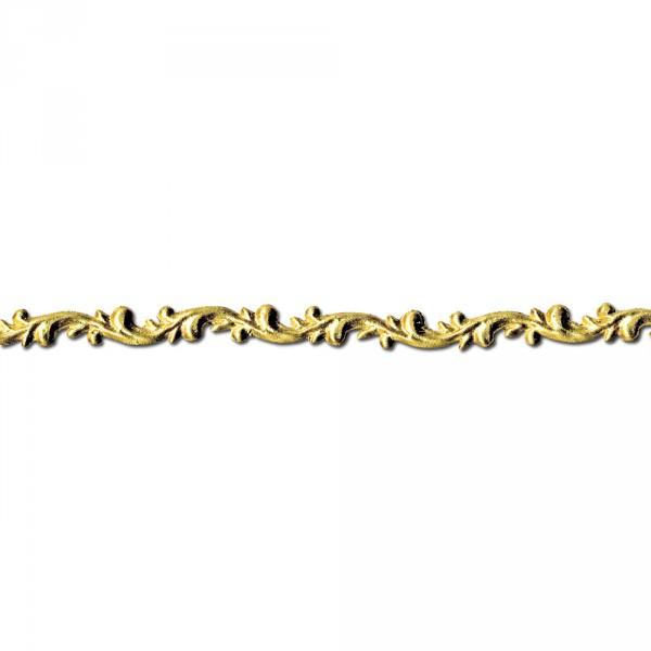 Verzierwachsstreifen Rankenborte 20 cm x 7 mm gold 2 Stück