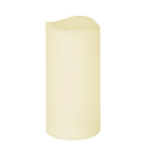 Partytischdecke.de | LED-Echtwachs Stumpenkerze Rustic Ø 75x150 mm creme