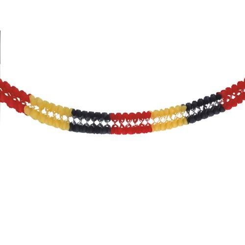 Partytischdecke.de   Girlande Papstar Ø 16 cm x 4 m schwarz-rot-gelb