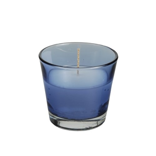 Glas mit Wachsfüllung Ø 90 x 80 mm blau 4 Stück