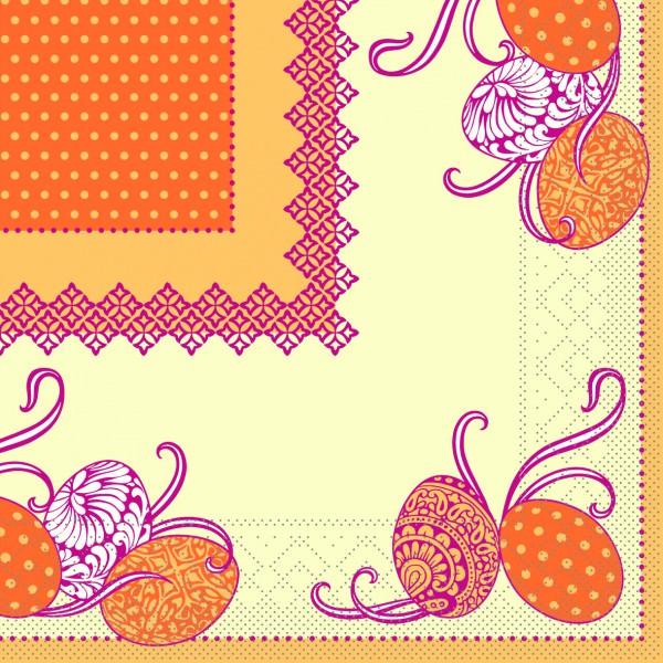 Partytischdecke.de | Serviette Mank 33x33 Tissue Andy gelb