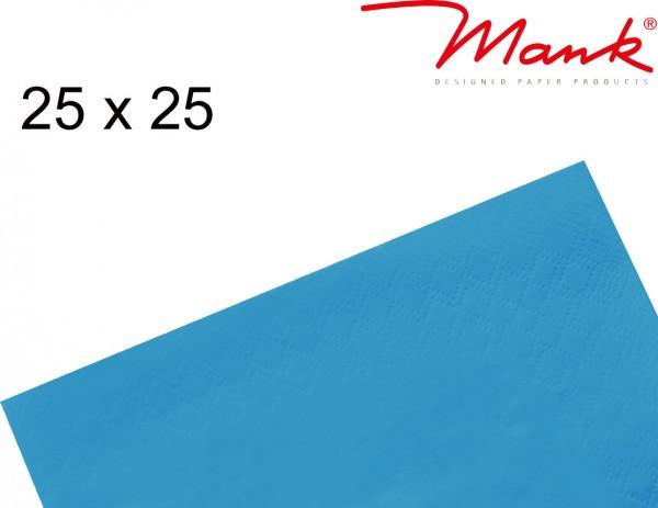 Partytischdecke.de | Serviette Mank 25x25 Tissue aquablau
