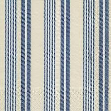 Partytischdecke.de | Servietten 25x25 Linen white and blue 20 Stück