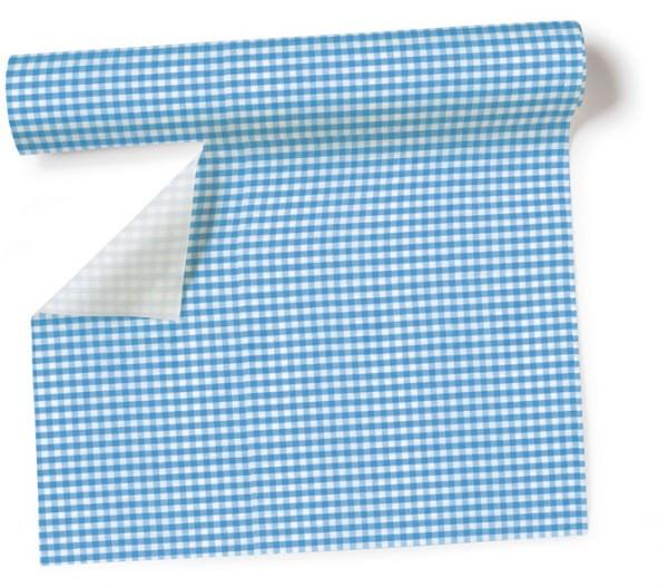 Partytischdecke.de | Tischläufer 40 cm x 3,60 m Vichy blue