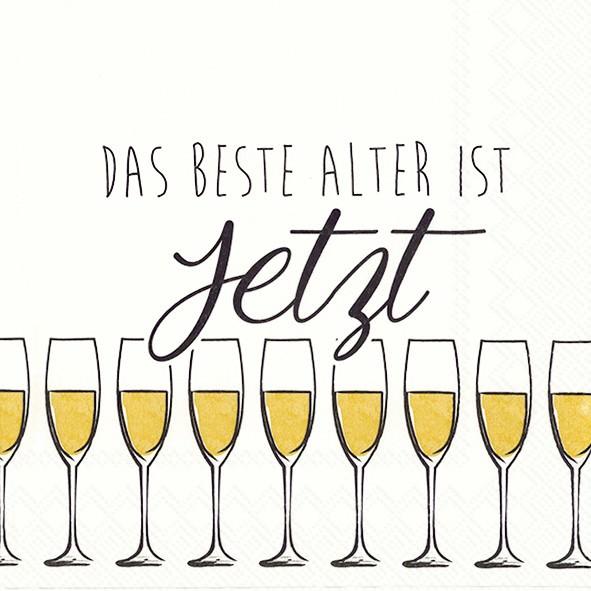 Partytischdecke.de | IHR Serviette 33x33 BESTE ALTER gold