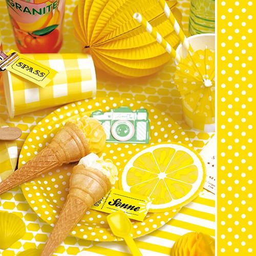 Partytischdecke.de | Serviette 33x33 Sunny Side 20 Stück