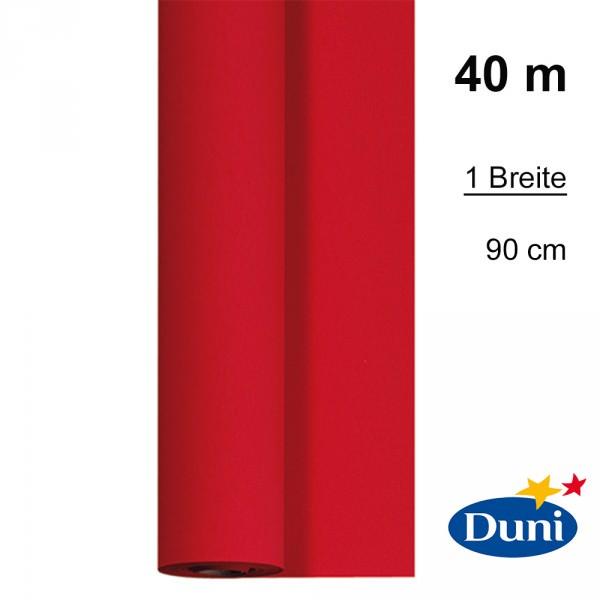 Partytischdecke.de   Tischdecke 0,90 x 40 m Duni Dunicel rot