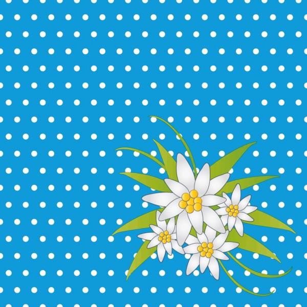 Partytischdecke.de | Duni Serviette 33x33 Edelweis blau