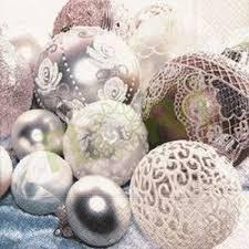 Partytischdecke.de | Servietten 25x25 White balls 20 Stück