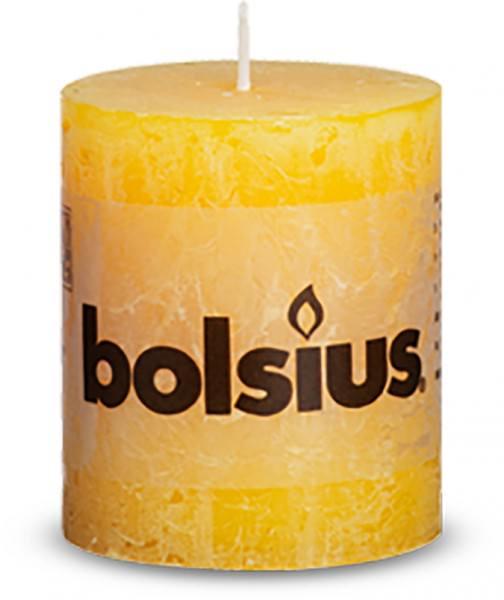 Kerze Bolsius Rustic Ø 6,8 x 8 cm soft orange