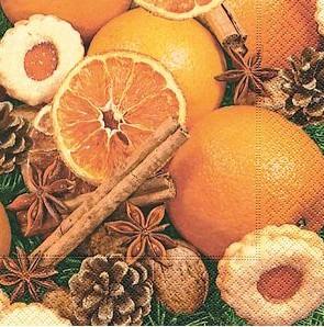 Partytischdecke.de | Servietten 33x33 Spices & oranges 20 Stück