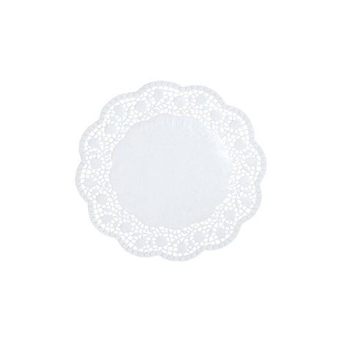 Partytischdecke.de | Teller- u.Tassendeckchen Papier Ø 15 cm weiss 100 Stück