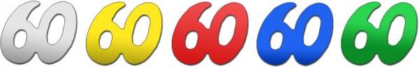 Partytischdecke.de | Jubiläumszahlen | 60 | Bunt 25 g