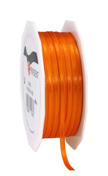 Partytischdecke,de | Satin Premium Band 3 mm x 50 m orange