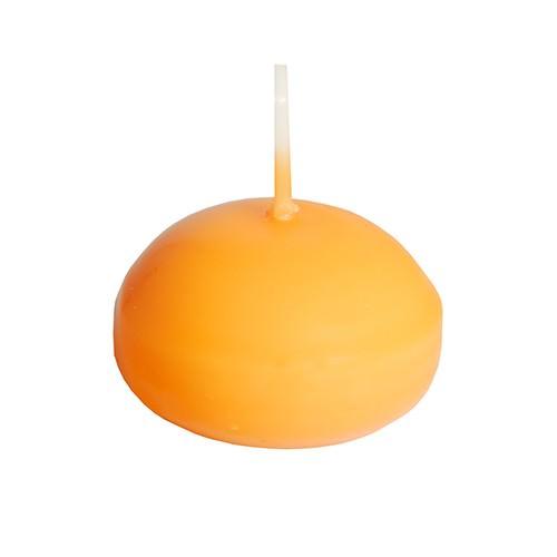 Partytischdecke.de | Papstar Schwimmkerzen Ø 4,5 x 3 orange 10er Box