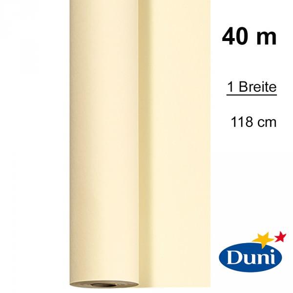 Partytischdecke.de | Tischdecke 1,18 x 40 m Duni Dunicel cream