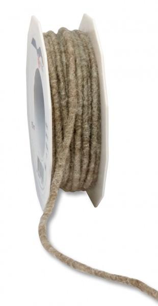 Partytischdecke.de | Wollband Elbe Schurwolle Ø 5 mm x 15 m sandstein