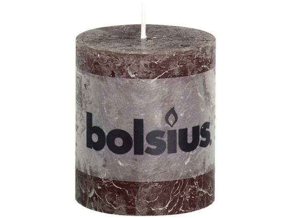 Kerze Bolsius Rustic Ø 6,8 x 8 cm schokobraun