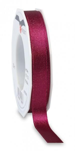 Partytischdecke.de | Satinband Glitter 15 mm x 20 m purpur-gold