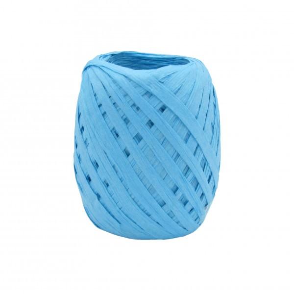 Partytischdecke.de | Bast aus Papier Knäuel à 30 mm x 50 aqua blau