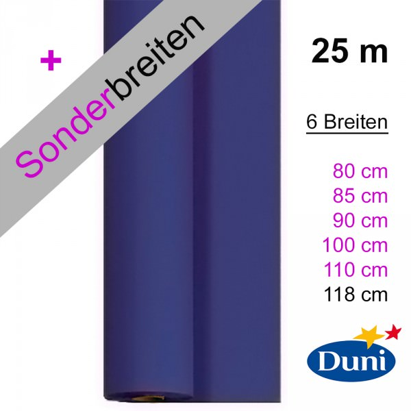 Partytischdecke.de | Tischdecke Duni Dunicel dunkelblau 25 m x Breite
