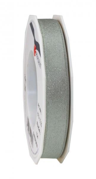Partytischdecke.de | Satinband Glitter 15 mm x 20 m schiefer-silber