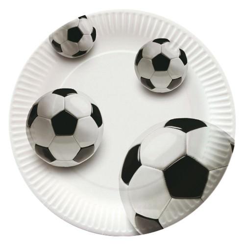 Partytischdecke.de | Pappteller Papstar Ø 23  | Soccer |  10er Pack