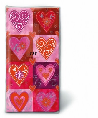 Motiv Taschentücher Päckchen Filigree Hearts 10 Stück
