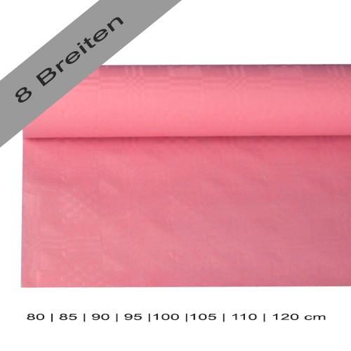 Partytischdecke.de | Papiertischdecke Damastprägung 8 lfm rosa