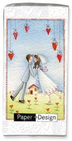 Motiv Taschentücher Päckchen Lovers forever 10 Stück
