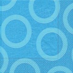 Partytischdecke.de | Servietten 40x40 Circle aqua 20 Stück