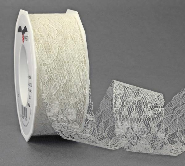 Spitzenband Derby creme 40 mm x 25 m Rolle