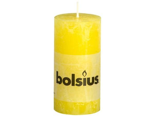 Partytischdecke.de | Kerze Bolsius Rustic Ø5x10 Gelb