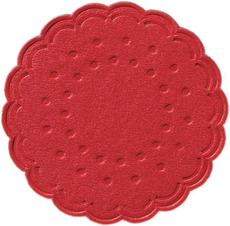 Partytischdecke.de   Duni Tassendeckchen Ø 7,5 cm rot