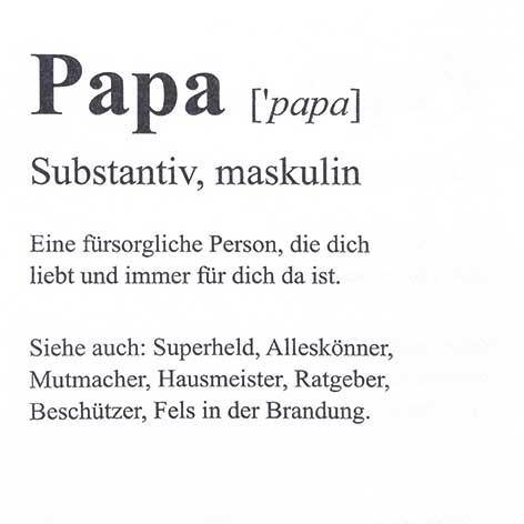 Partytischdecke.de | Servietten 33x33 Papa