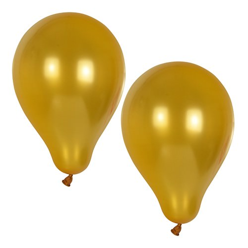 Partytischdecke.de | Luftballons Ø 25 cm gold 10 Stück