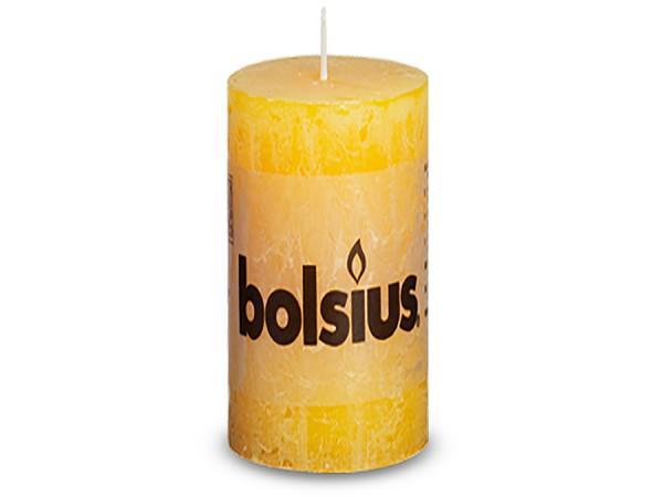 Partytischdecke.de | Kerze Bolsius Rustic Ø 6,8 x 13 cm soft orange