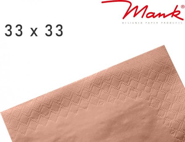 Partytischdecke.de | Serviette Mank 33x33 Tissue apricot