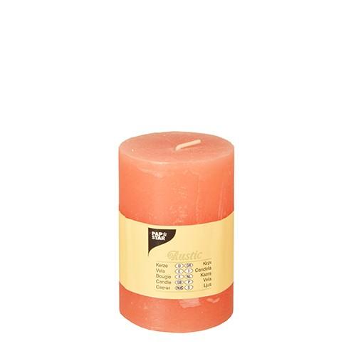 Partytischdecke.de | Rustik Kerze nektarine Ø 7 cm x Höhe
