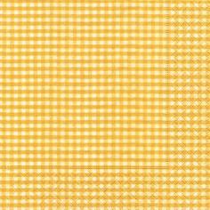 Partytischdecke.de   Servietten 33x33 Vichy yellow 20 Stück