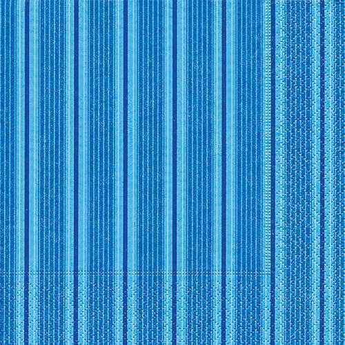 Partytischdecke.de | Servietten 25x25 Unique stripes blue 20 Stück