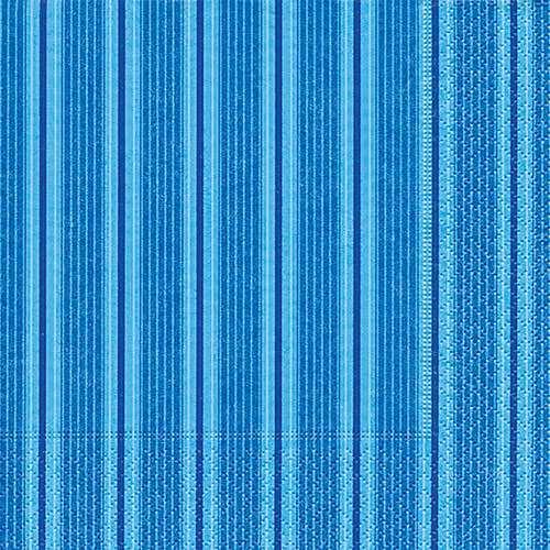 Partytischdecke.de | Servietten 25x25 Unique stripes blue 20 Stück