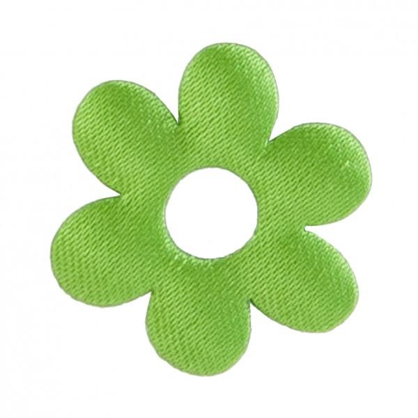 Satin Deko Blume Ø 3 cm apfelgrün 24 Stück