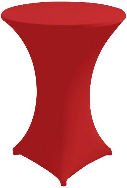 Stehtischhusse Strech Ø 80 rot 1 Stück