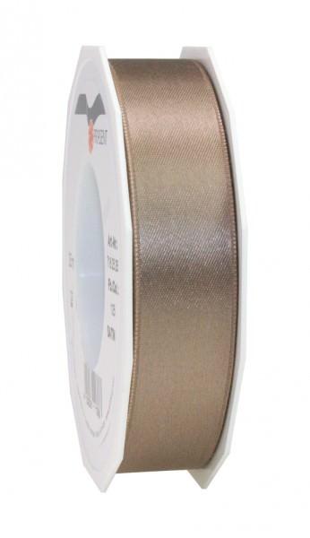 Partytischdecke.de | Satin Premium Band 25 mm x 25 m greige