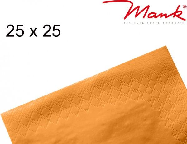Partytischdecke.de | Serviette Mank 25x25 Tissue orange