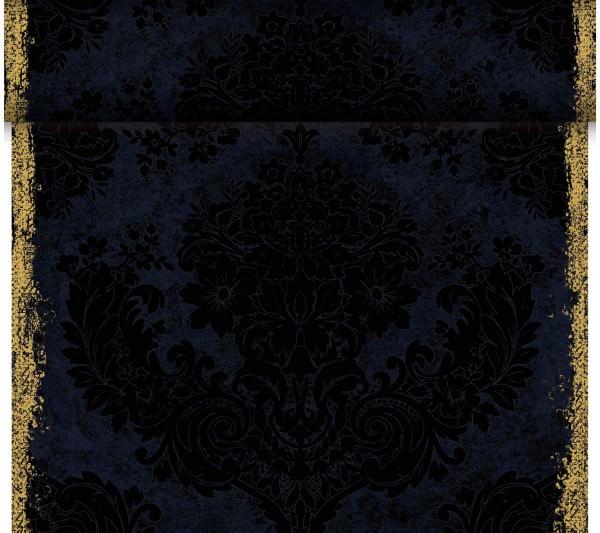 Partytischdecke.de | Duni Tischläufer 40 cm x 24 m Dunicel Royal Black