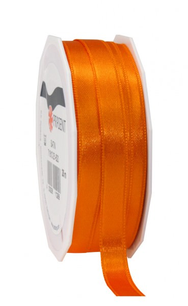 Partytischdecke,de | Satin Premium Band 10 mm x 25 m orange