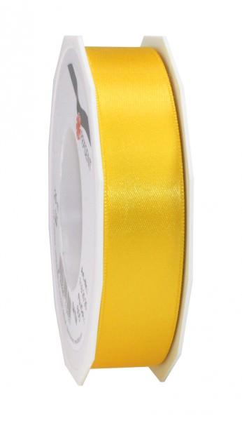 Partytischdecke,de | Satin Premium Band 25 mm x 25 m gelb